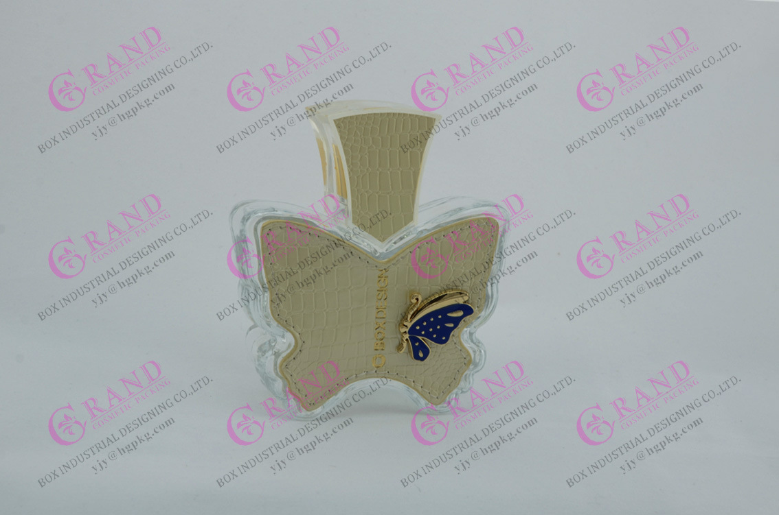 OEM/ODM Luxury Glass Perfume Bottle with Leather Cover