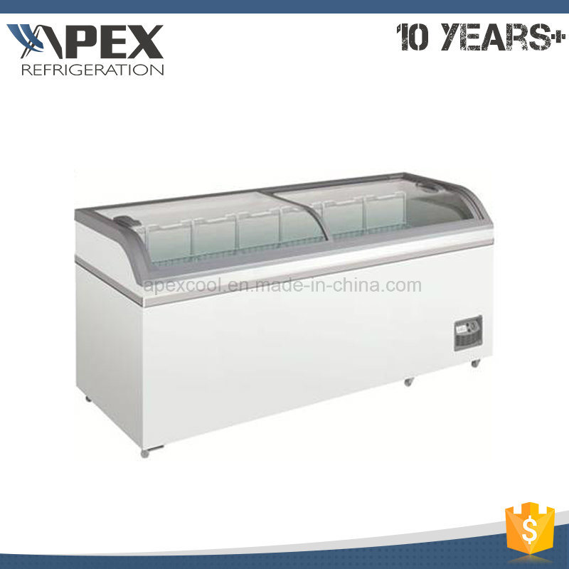 Supermarket Chest Glass Door Combine Freezer with Ce, CB Approved