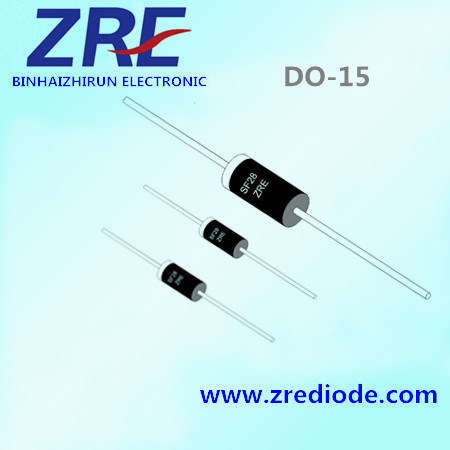 2A Schottky Barrier Rectifier Diode Sb220 Sr220 Sb2200 Sr2200 Do-15 Package