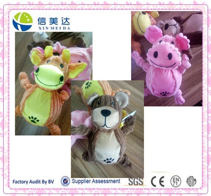 Round Body Squeaker Plush Animal Pet Dog Toy