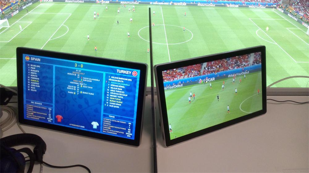 17.5 Inch IP43 Water-Resisitant/Waterproof TV Custom-Made for Euro 2016 Event