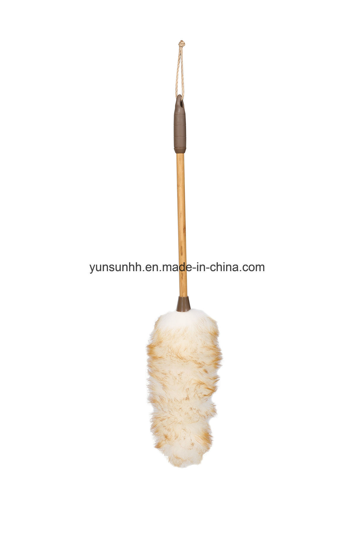 Sheep Wool Duster with Bamboo Handle