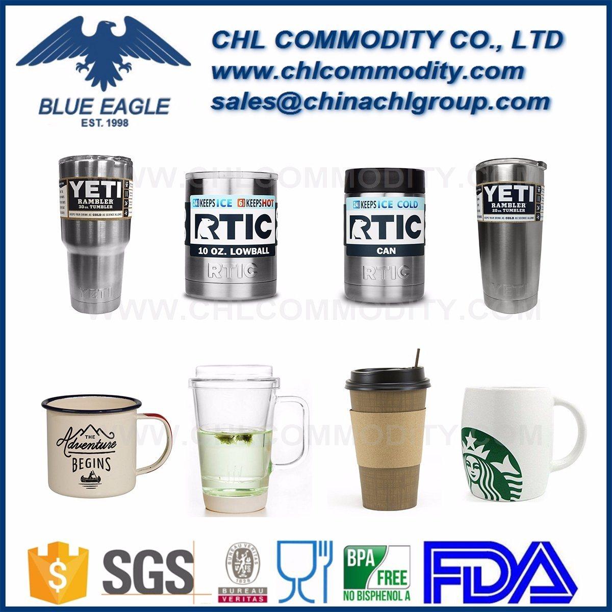 Double Wall Insulated Vacuum Stainless Steel Beer Mug, Enamel Camping Mug, Ceramic Coffee Mug, Glass Travel Mug, Customized Paper Mug