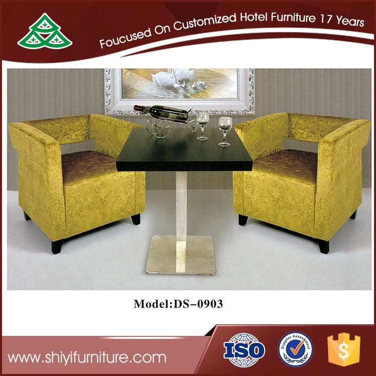Wooden Coffee Table and Leisure Sofa