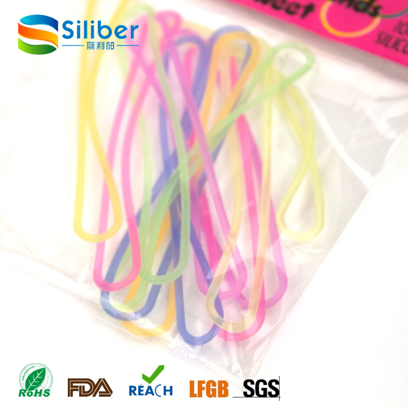 Small Colorful Rubber Bands/Silicone Thin Elastic Rubber Bands