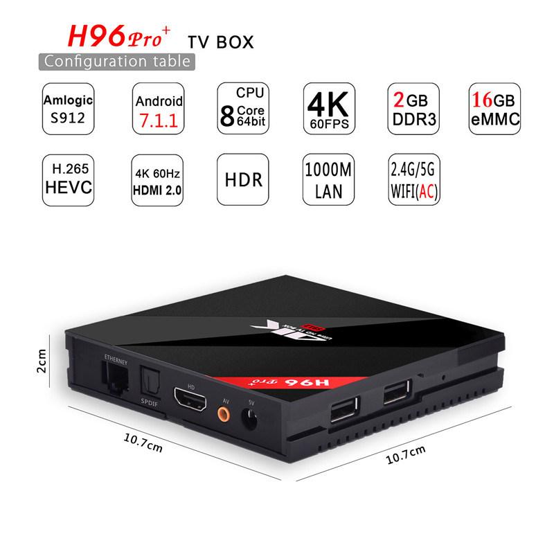Amlogic S912 64bit Android Smart Kodi TV Box with Your Logo&Apk