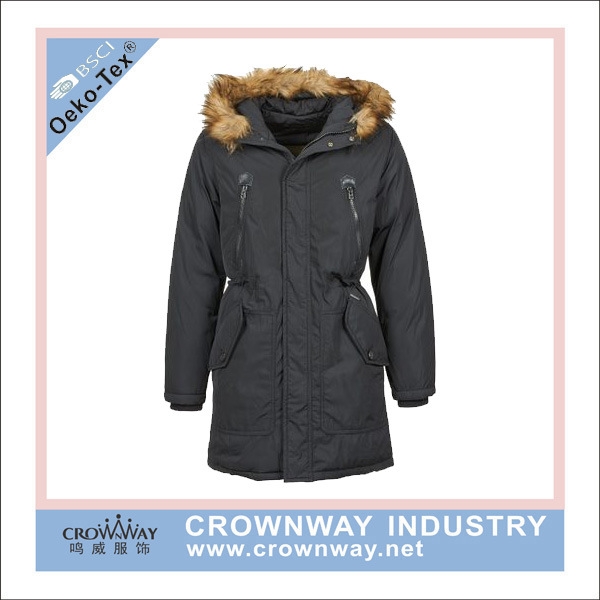 Wholesale Mens Jacket Parka with Canvas Fabric