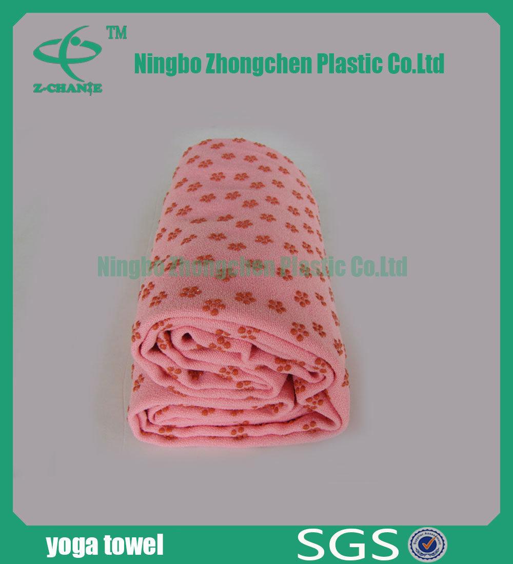 Anti-Slip 100% Polyester Microfiber Yoga Mat Towel Sport Towel for Yoga Exercise