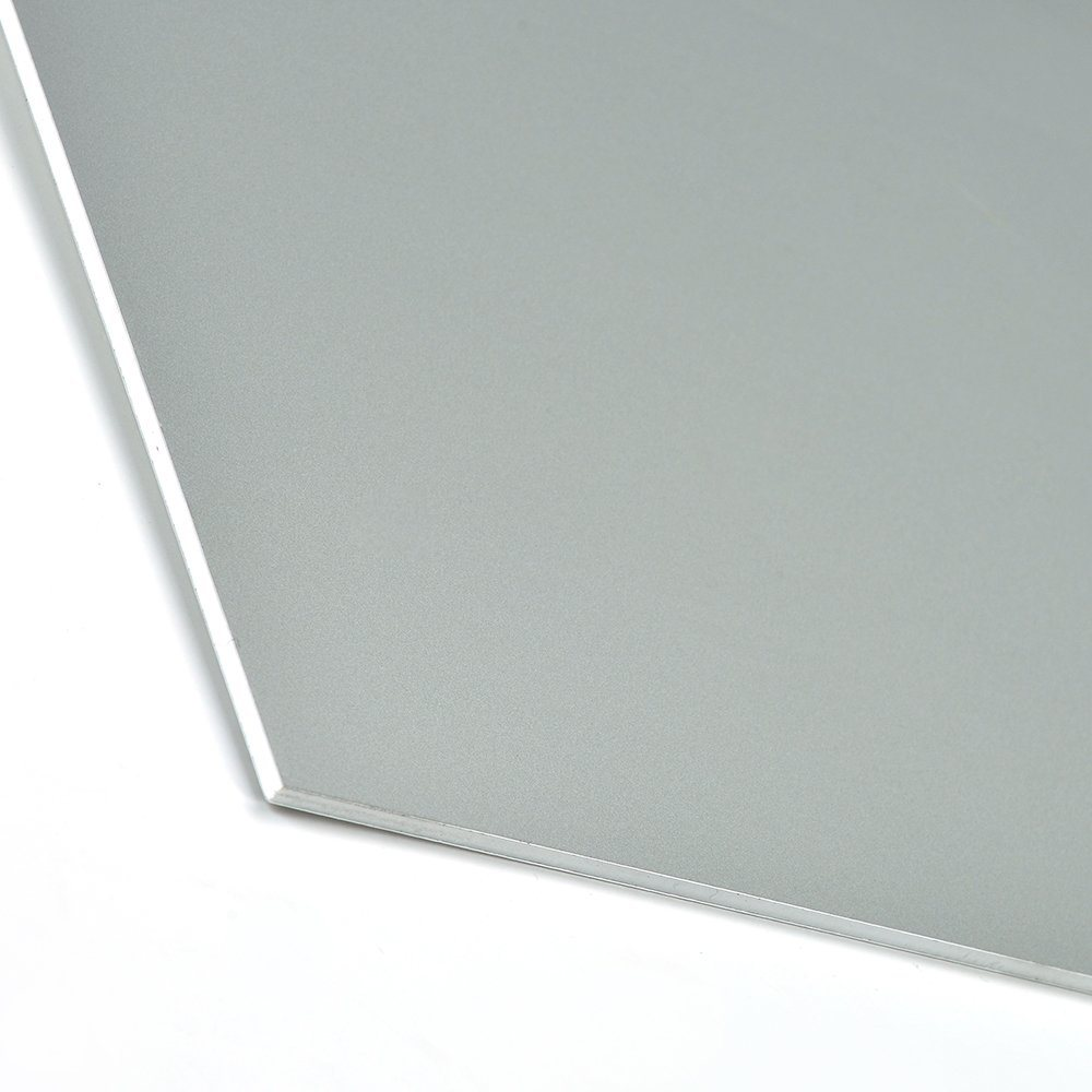 Aluis Exterior 5mm Fire-Rated Core Aluminium Composite Panel-0.50mm Aluminium Skin Thickness of PVDF Grey Blue