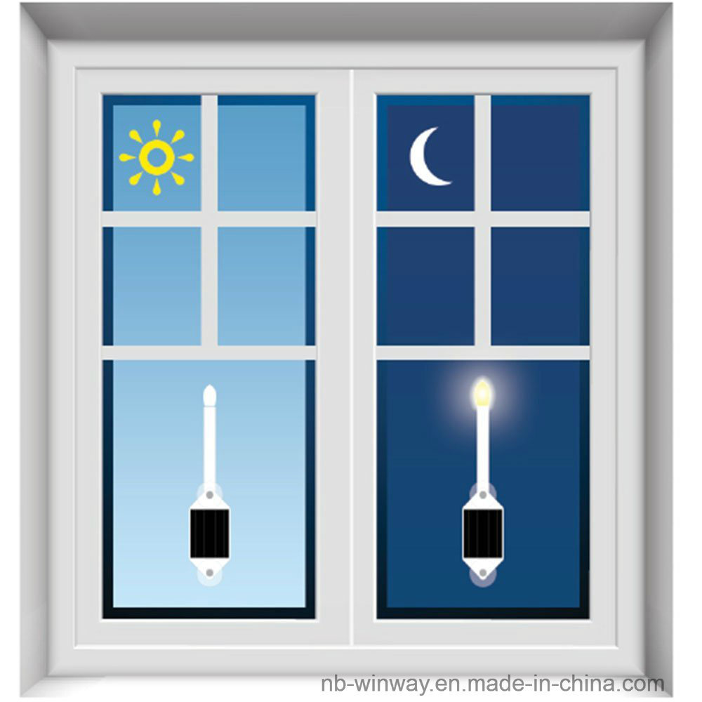 Realistic Flameless LED Solar Flickering Candle Light Rechargeable Window Wall Lamp with Suction Cups for Seasonal Decoration