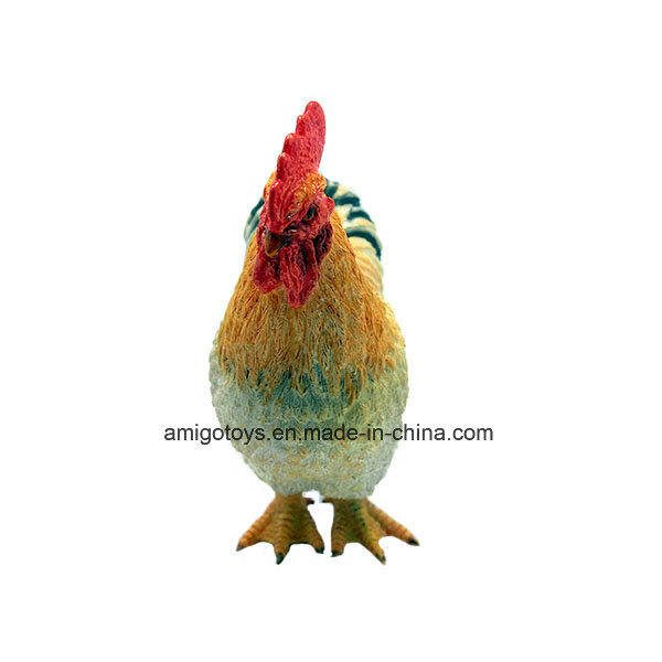 Small Farm Cock Plastic Toy for Kids and Decoration