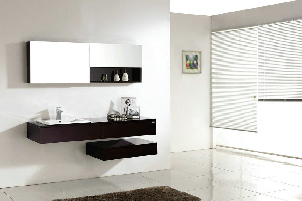 Wall Hung Bathroom Vanities With Wonderful Creativity In Singapore