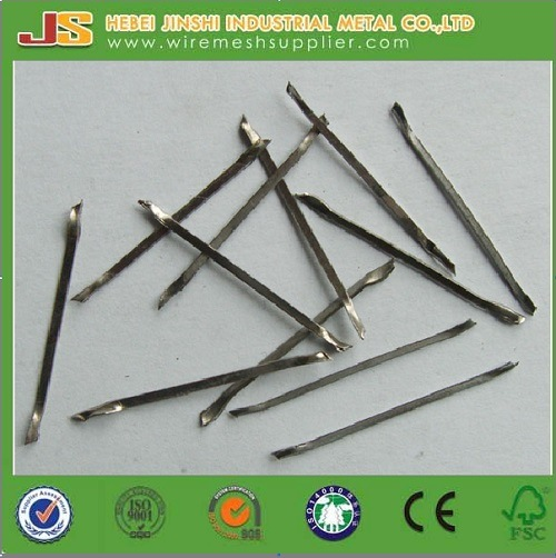 Glued Hook End Steel Fibers for Constructions
