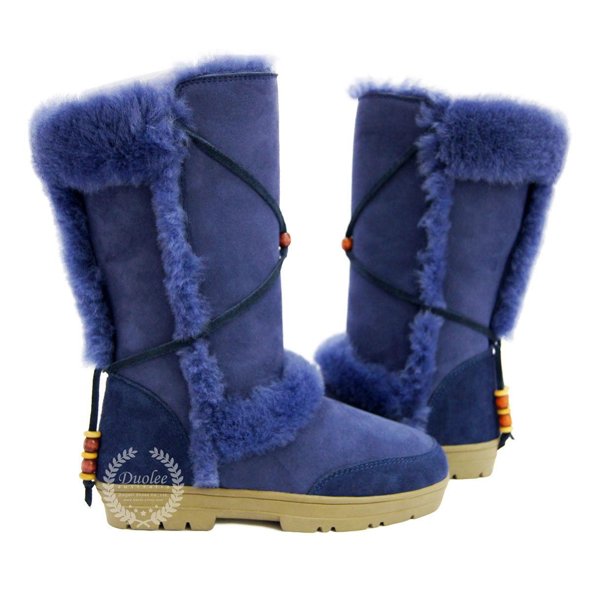 leather sheepskin winter boots mount mercy