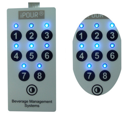 Embossed Tactile LED Metal Dome Membrane Switch for Household Appliance