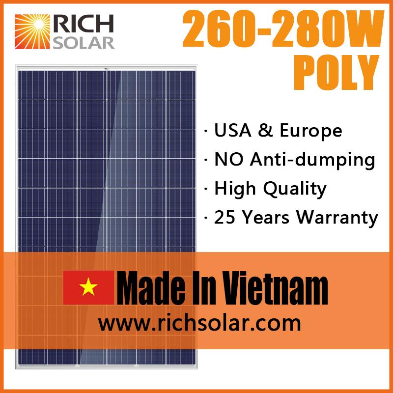 270W Poly PV Solar Module Solar Panel Made in Vietnam