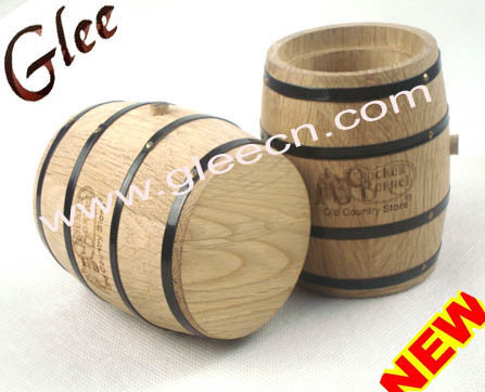 Flower  on Flower Pot  Wood Gift Box  Wa 001    China Wine Barrel Flower Pot