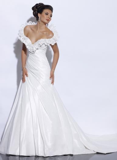 China silk satin wedding dress dnw1081 china wedding for Satin silk wedding dresses