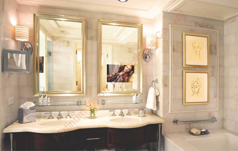 China Bathroom Mirror TV China Bathroom Tv Waterproof Tv