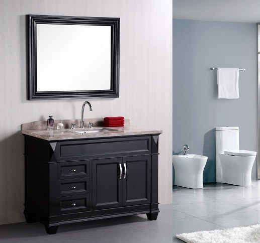 48 quot single sink solid wood bathroom vanity china bathroom vanity