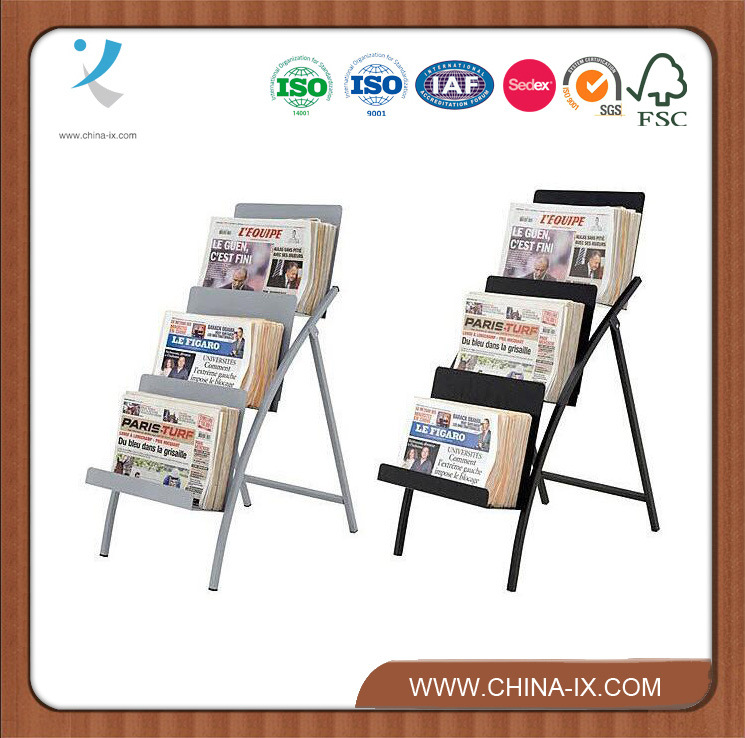 Floor Standing Metal Newspaper Display Stand