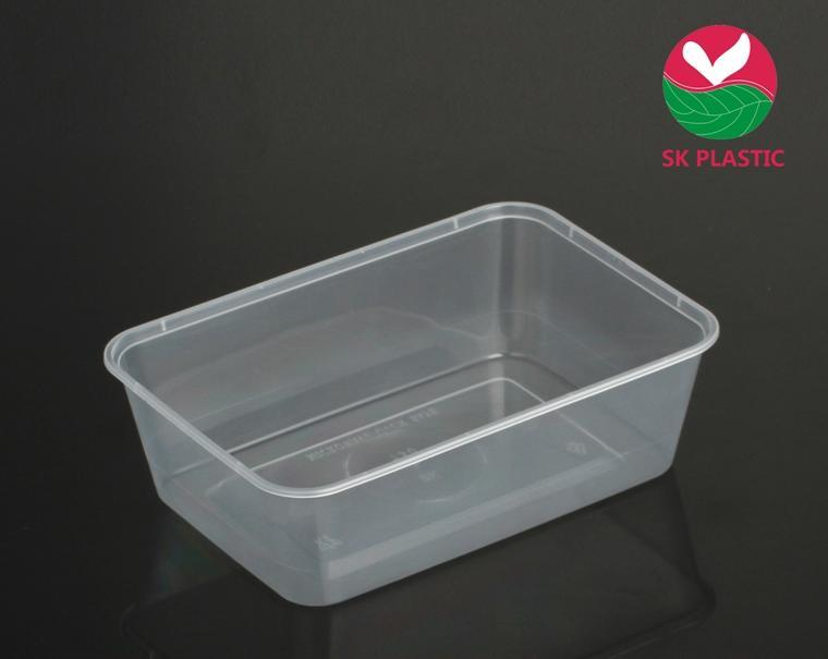 Disposable Takeaway Microwaveable Plastic Food Container (SK 750)
