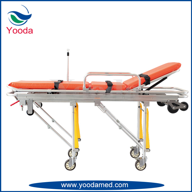 Aluminum Alloy Automatic Loading Ambulance Stretcher