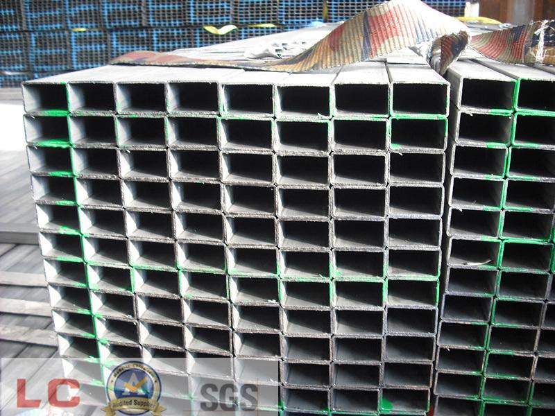 50mmx30mm Black Rectangular Steel Pipe