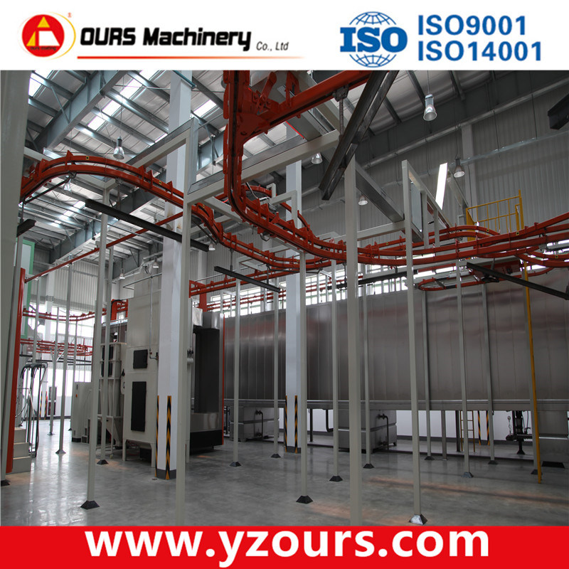High Quality Powder Coating Machine with Overhead Conveyor