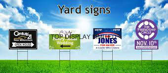 Road Sign Coffee Bar Mall Sign Real Estate Yard Banner Custom Printed Yard Signspolitical Yard Sign