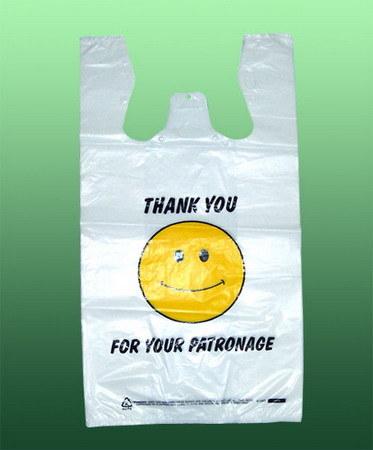 HDPE Customized Printing Plastic T-Shirt Bag