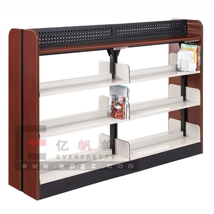 China Unique Design Bookshelf, Library Bookshelf, 4 Level Double Side Shelf, School Furniture (SF-08B)