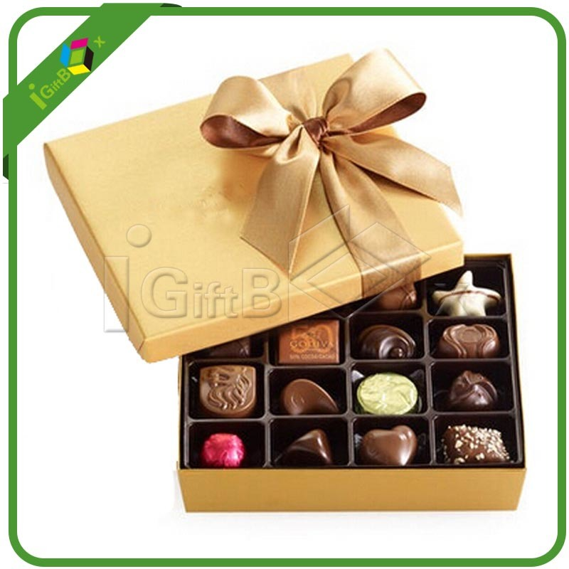 Food Grade Luxury Fancy Chocolate Paper Packaging Gift Chocolate Box for Candy Cake Macaron Favor Packing