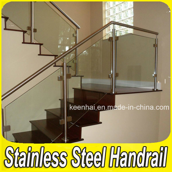 China Indoor Stair Balcony Handrail Stainless Steel Glass
