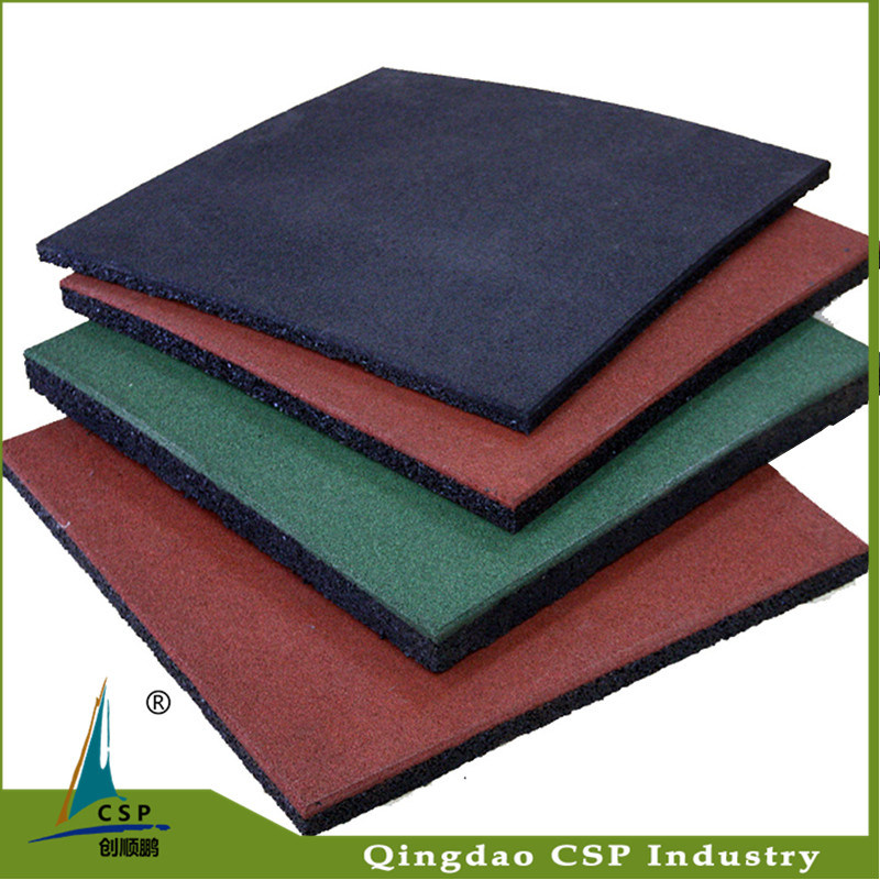 Shockproof Rubber Floor Mat, Rubber Tile, Rubber Tile for Gym