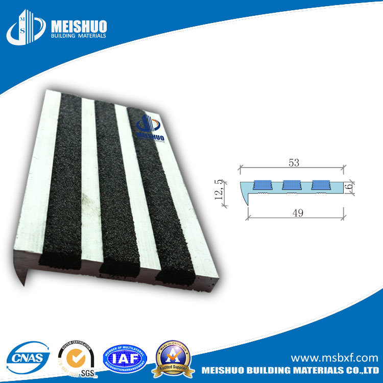 Pre-Drilled Extruded Aluminium Stair Nose