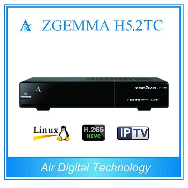 Newest Combo Satellite Receiver Zgemma H5.2tc with DVB-S2 + 2 * DVB-T2/C Three Tuners H. 265 Hevc Satellite Decoder