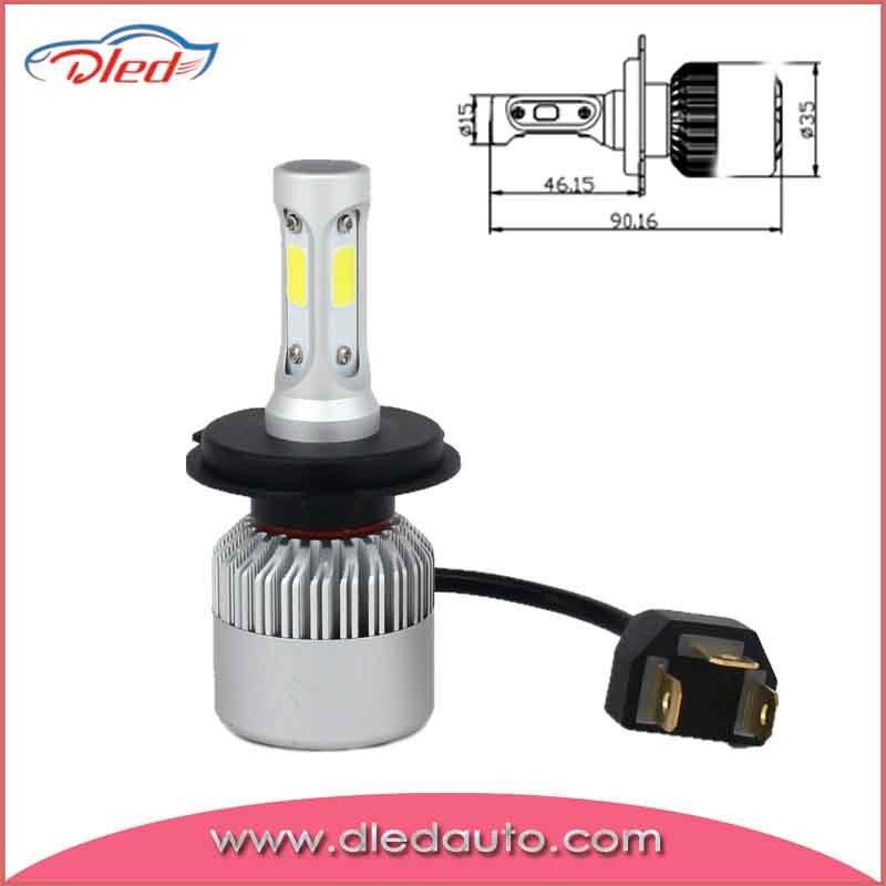 H4 4000lm 6500k Auto LED Headlight Bulbs/Fog Lighting Lamp