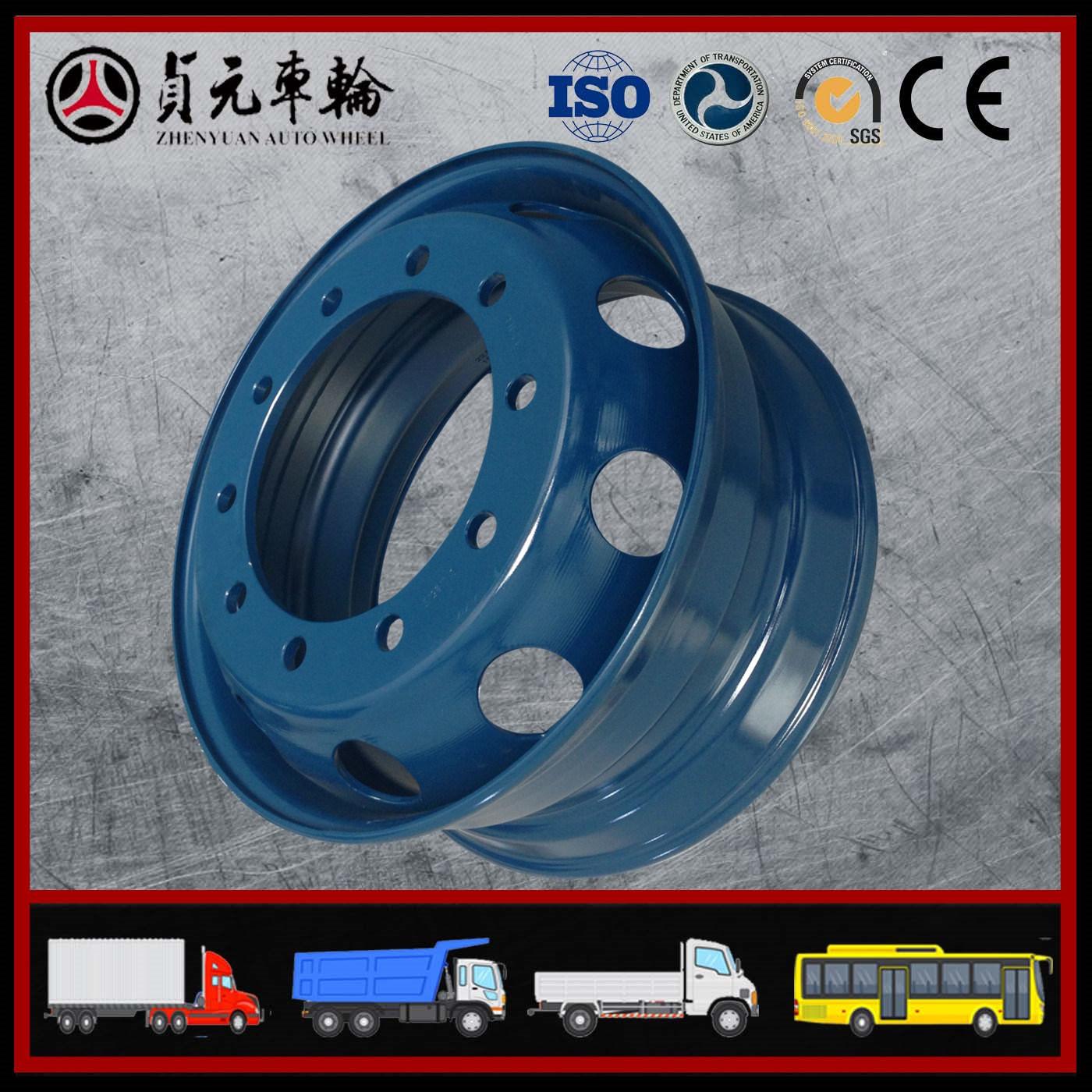 Tubeless Steel Wheel Rim/Hub for Bus/Truck (22.5X9.00 8.25)