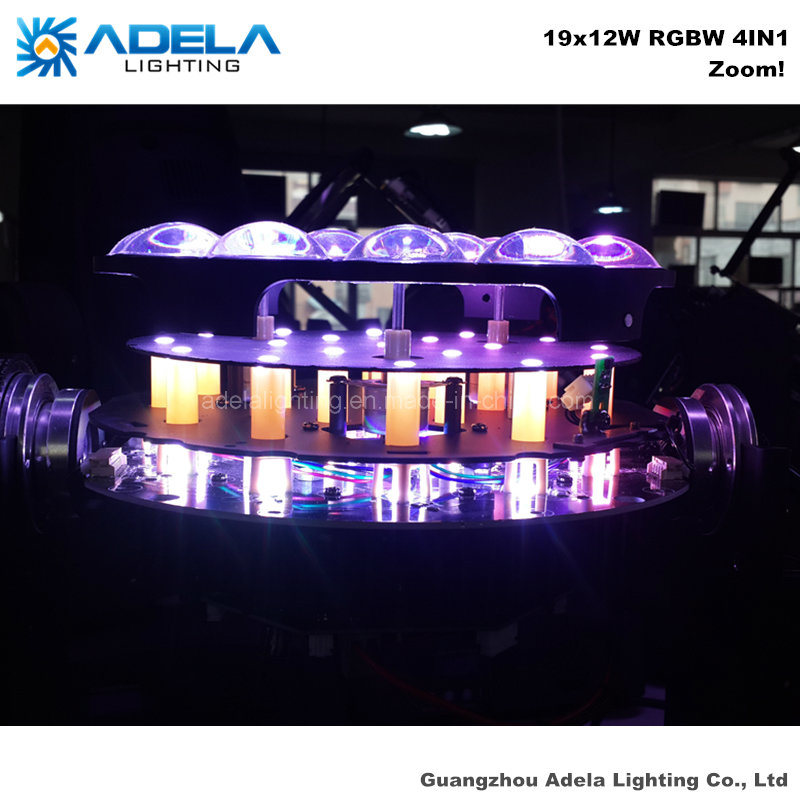 Zoom 19X12W LED Moving Head Beam Wash Light