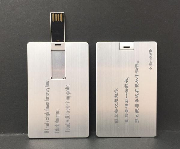 USB flash drive Metal Card OEM Logo Pendrives Flash Card USB Flash Disk USB Memory Card USB 2.0 Drive Memory Stick USB Thumb Drive Flash Card