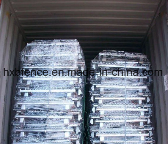 Lockable Metal Storage Cage, Steel Storage Cages with Wheels, Foldable Storage Cage