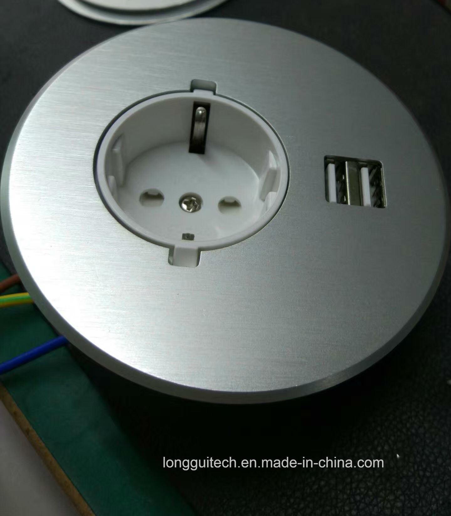 Desktop Socket with USB Charger Lgt-810e