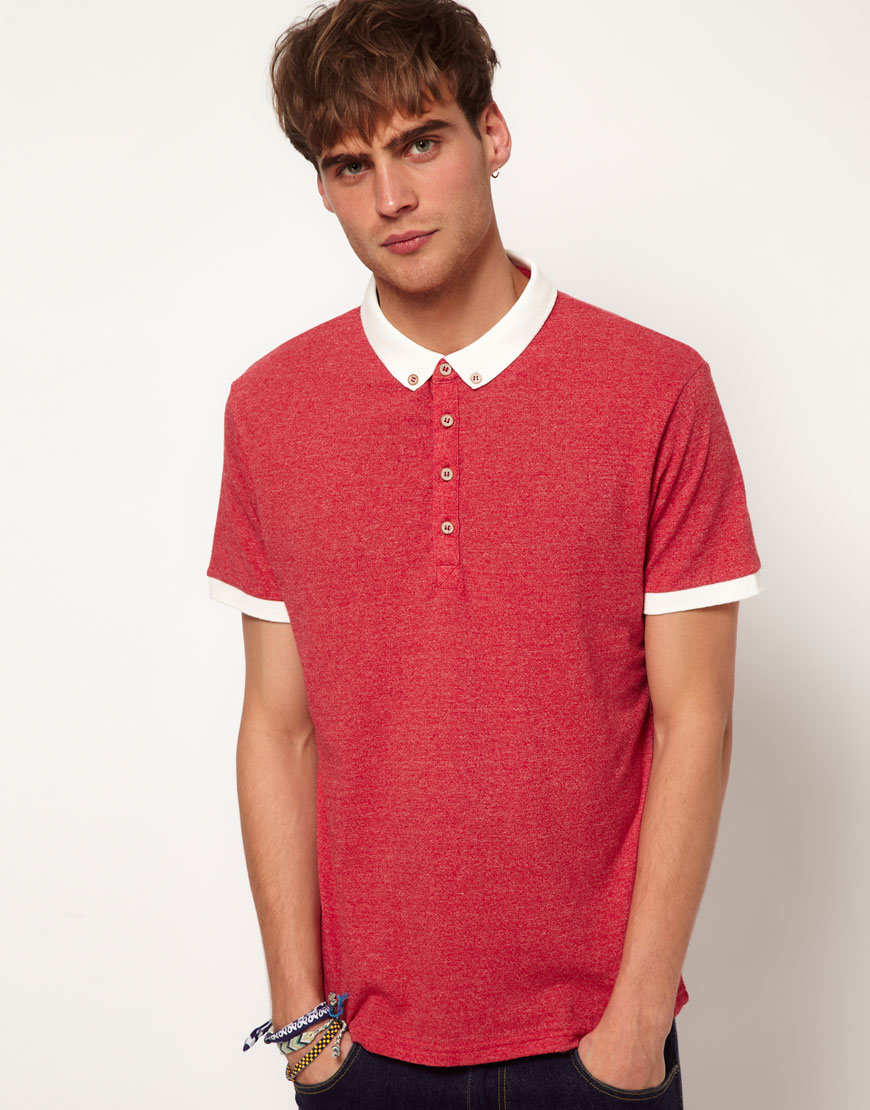 Fashion Nice Cotton/Polyester Panel Polo Shirt (P037)