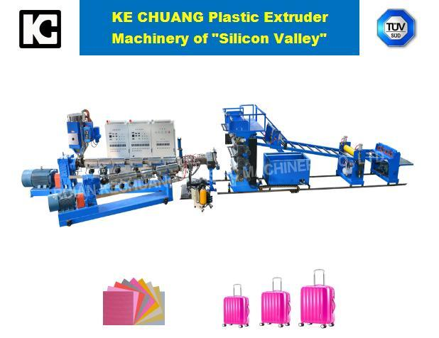 ABS, PC, PP, PS, PE, PMMA One-Layers Plastic Sheet Plate Extruder Production Line Machine