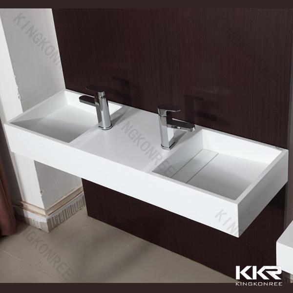 China modern design wash basin double sink bathroom - Double wash basin bathroom ...
