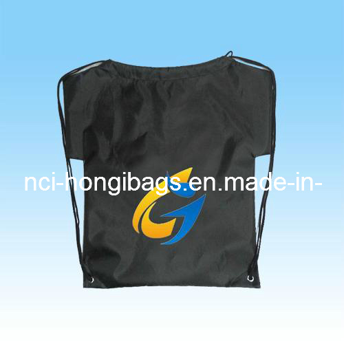 Fashion Drawstring Gym Backpack Bag for Sports, Promotion, Shoes