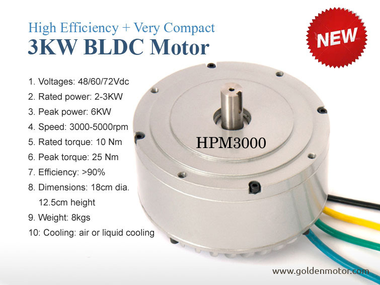 CE Approved High Power 3 Kw Electric Motorcycle Motor