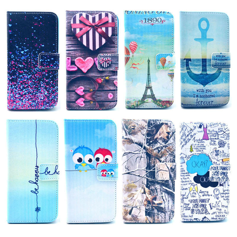 OEM Pattern Beautiful PU Leather Mobile/Cell Wallet Filp Print Phone Cover Case for iPhone 6