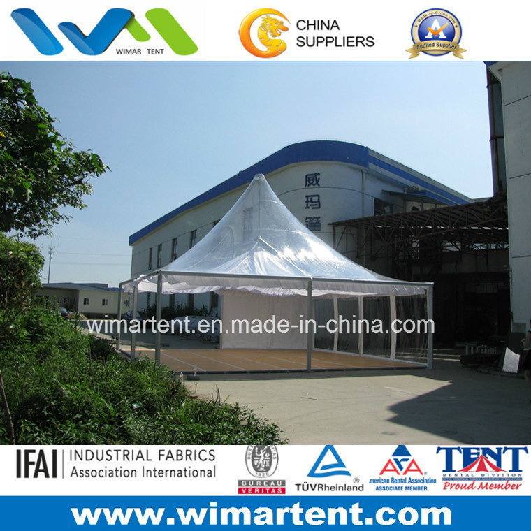 8X8m Outdoor Clear Roof Pergola with Flooring Linings